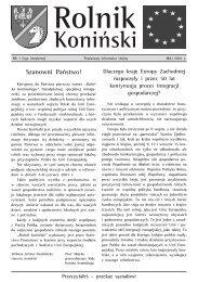Szanowni Państwo! - Powiat koniński