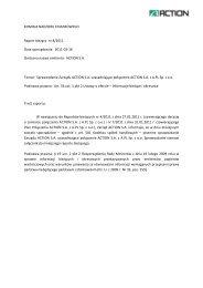 Raport bie¿¹cy nr 8_2011 - Action S.A.