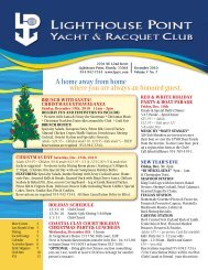 December 2010 - Lighthouse Point Yacht and Racquet Club