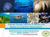 Climate Change Imprints on Marine Life Based on Long-term