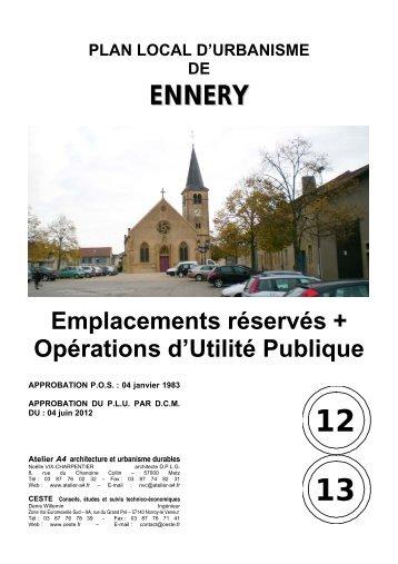 12/13 Emplacements Réservés et Opérations d'Utilité ... - Ennery
