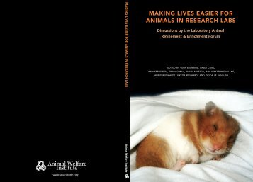 Making Lives Easier for Animals in Research Labs - Animal Welfare ...