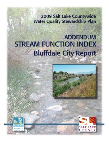 Bluffdale - Watershed Planning and Restoration Program - Salt Lake ...