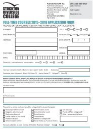 Full-Time Application Form - Stockton Riverside College