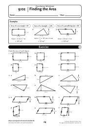 NSM 8 Student CD/Foundation Worksheet 9 - Pearson Australia ...