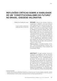 constitucionalismo do futuro - revista internacional direito e cidadania