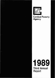 Combat Poverty Agency Annual Report 1989