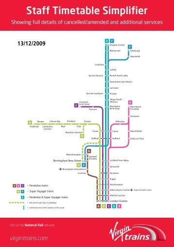 Staff Timetable Simplifier - Virgin Trains