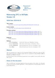 Referencing STC in VOTable Version 2.0 - IVOA