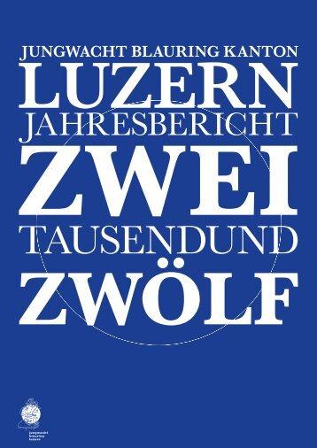JAHRESBERICHT - Jubla Luzern