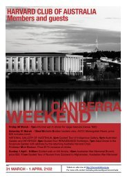 CANBERRA - Harvard Club of Australia
