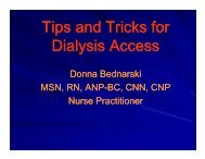 Tips and Tricks for Tips and Tricks for Dialysis Access - Michigan ...