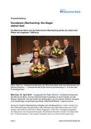 3. Oberhachinger Kunstpreis - Münchner Bank eG