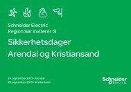 Invitasjon Arendal/Kristiansand - Schneider Electric