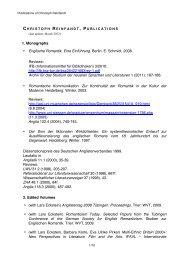 1. Monographs • Englische Romantik. Eine ... - Universität Tübingen