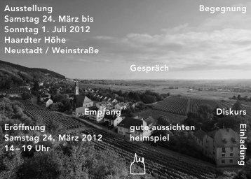 Einladung/Invitation Ausstellung/Exhibition ... - Gute Aussichten