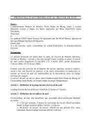 Accord sur le travail de nuit - CFDT Santé Sociaux
