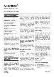 Kliovance - Novo Nordisk Australasia
