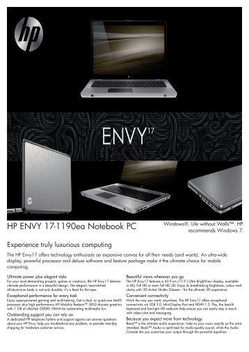 PSG Consumer 2C10 HP Notebook Envy Datasheet - HPmarket.cz
