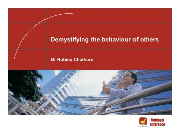 Demystifying the behaviour of others - Acord