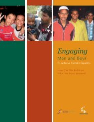 Engaging Men and Boys to Achieve Gender Equality: How ... - FIRA