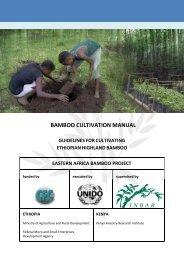 BAMBOO CULTIVATION MANUAL - Unido