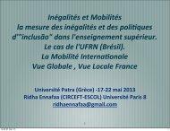 Inégalités et Mobilités la mesure des inégalités et des poli\ques d ...