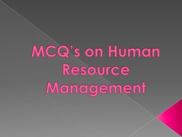 Human Resource Management - ABES