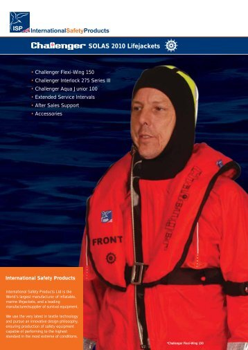 SOLAS 2010 Lifejackets - Survival Offshore Systems