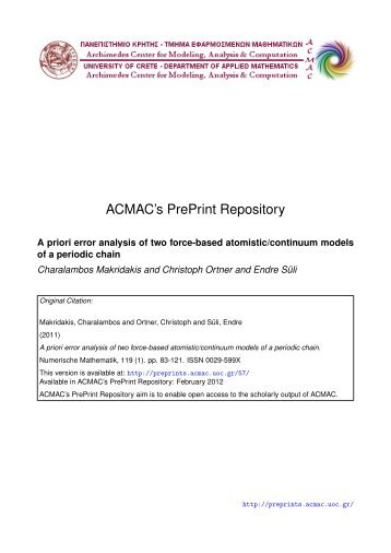 Download (1036Kb) - ACMAC's PrePrint Repository