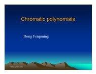 Chromatic polynomials