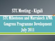 AfWA STC - Milestones and Congress.pdf