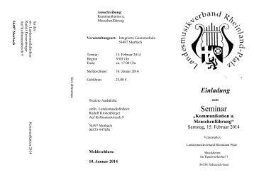 Ausschreibung Kommunikation 2014 - Landesmusikverband ...