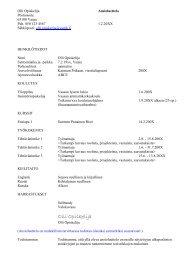 CV mallipohja - Vaasan ammattikorkeakoulu
