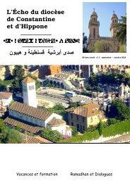 Echo de Constantine Octobre 2010 - Église Catholique d'Algérie