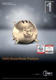 DWS RiesterRente Premium - inobroker