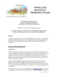 Appellate Advocacy Research Guide - Syracuse University College ...