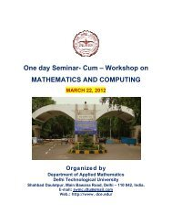 One day Seminar- Cum – Workshop on MATHEMATICS AND ...