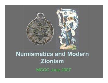 Numismatics and Modern Zionism