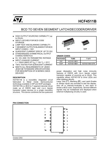 BCD to 7-segment latch/decoder/driver for LCDs