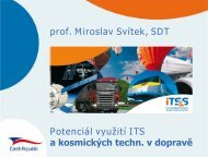 Potenciál využití ITS a kosmických technologií v dopravě