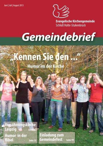 Gemeindebrief - Evangelische Kirchengemeinde Schloß Holte ...