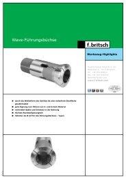 Wave-Führungsbüchse - Friedrich Britsch GmbH & Co. KG