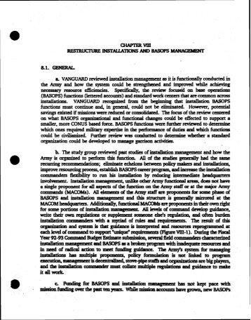 Volume 1, Part II - Washington Headquarters Services