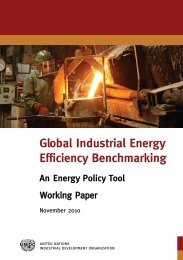 Global Industrial Energy Efficiency Benchmarking: An ... - Unido