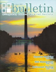 April 2007 Bulletin - Allegheny County Medical Society