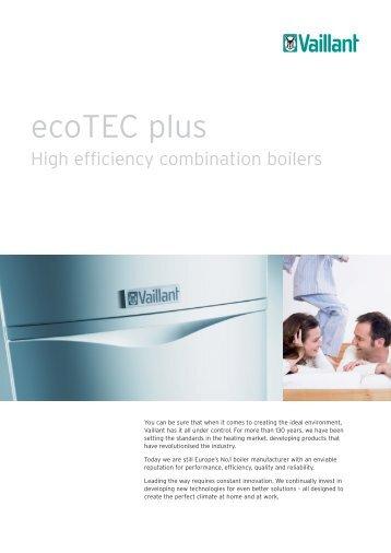 ecoTEC plus combination boilers