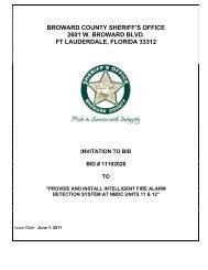 broward county sheriff's office 2601 w. broward blvd. ft lauderdale ...