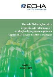 r.12. sistema descritor de utilizações - ECHA - Europa