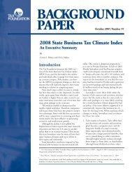 B ACKGROUND PAPER - Tax Foundation